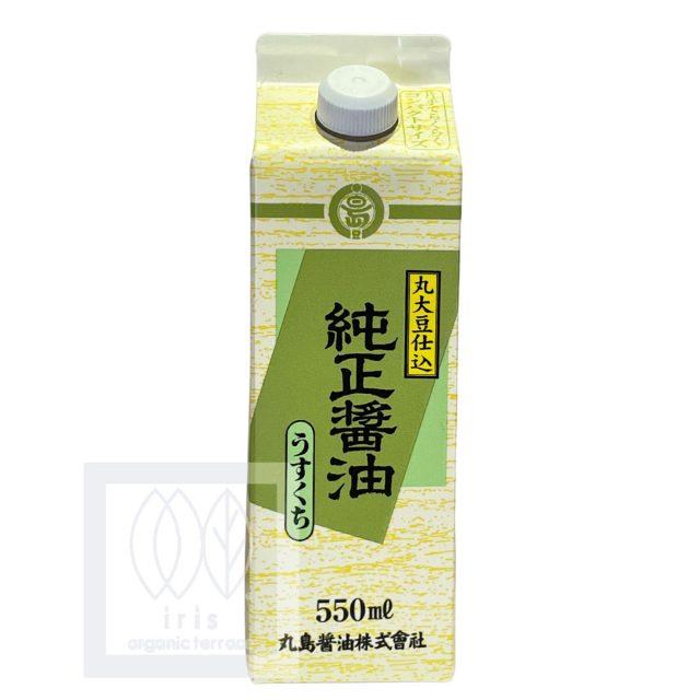 マルシマ  純正醤油 (うすくち) 550ml